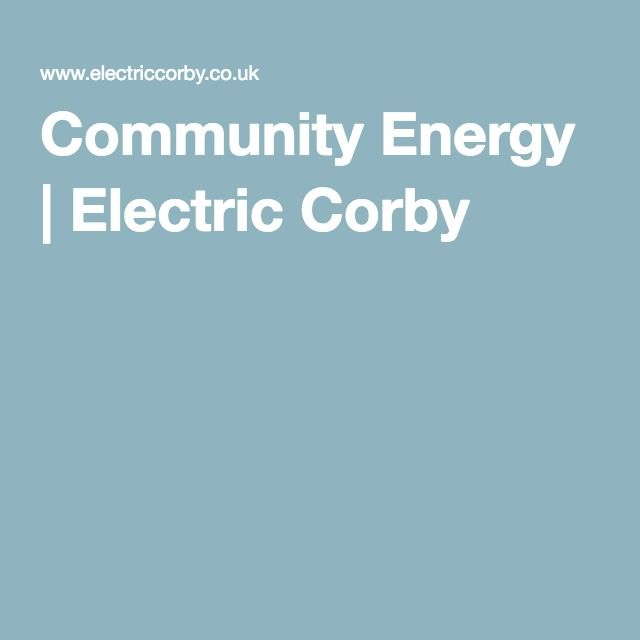 Community Energy | Electric Corby