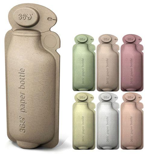 A BrandImage criou a primeira garrafa de papel para água. Uma embalagem inovadora, que questiona o uso das garrafas de plástico.    Motivada por números exorbitantes - de 60 milhões de garrafas PET que são dispensada por ano nos EUA, apenas 14% são recicladas - a agência criou a 360 bottle, a primeira embalagem de papel totalmente reciclável, fácil de transportar e que melhorasse a experiência do usuário com os líquidos que ele consome.