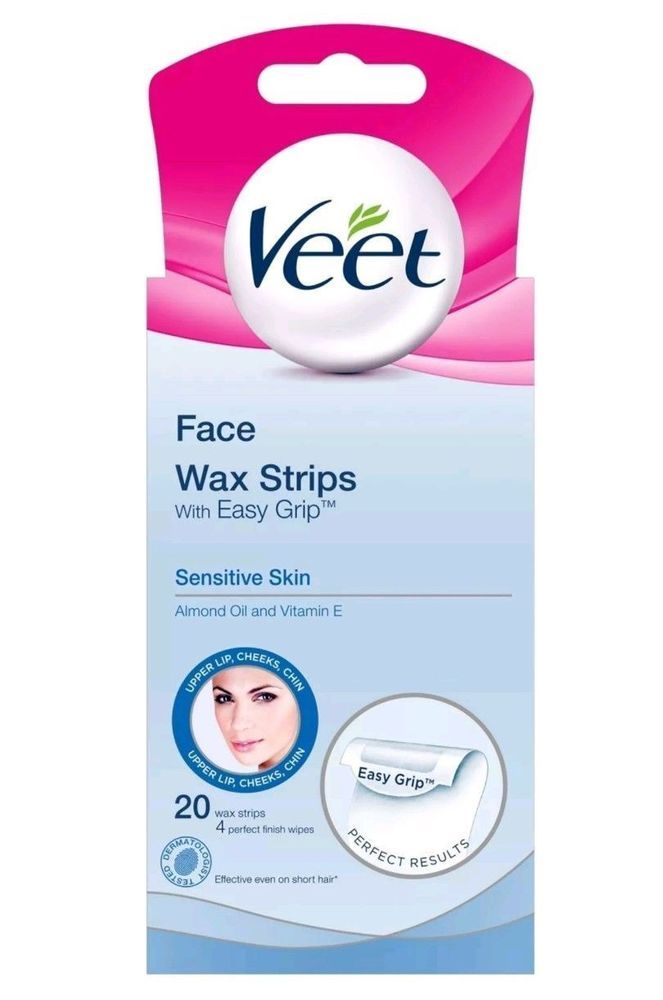 Veet Face Wax Strips Sensitive Skin Pack Of 20 Hair Removal Top Quality Ideal Pp Ebay Veet Haircare Health Beauty Products Face Wax Wax Strips Wax H