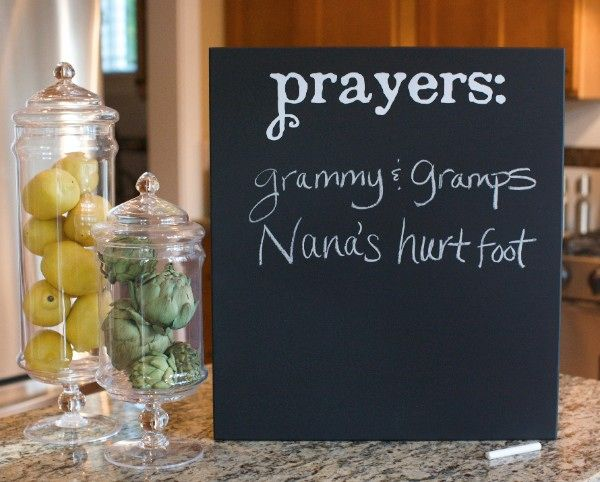 Kids and guests can write down prayer requests.