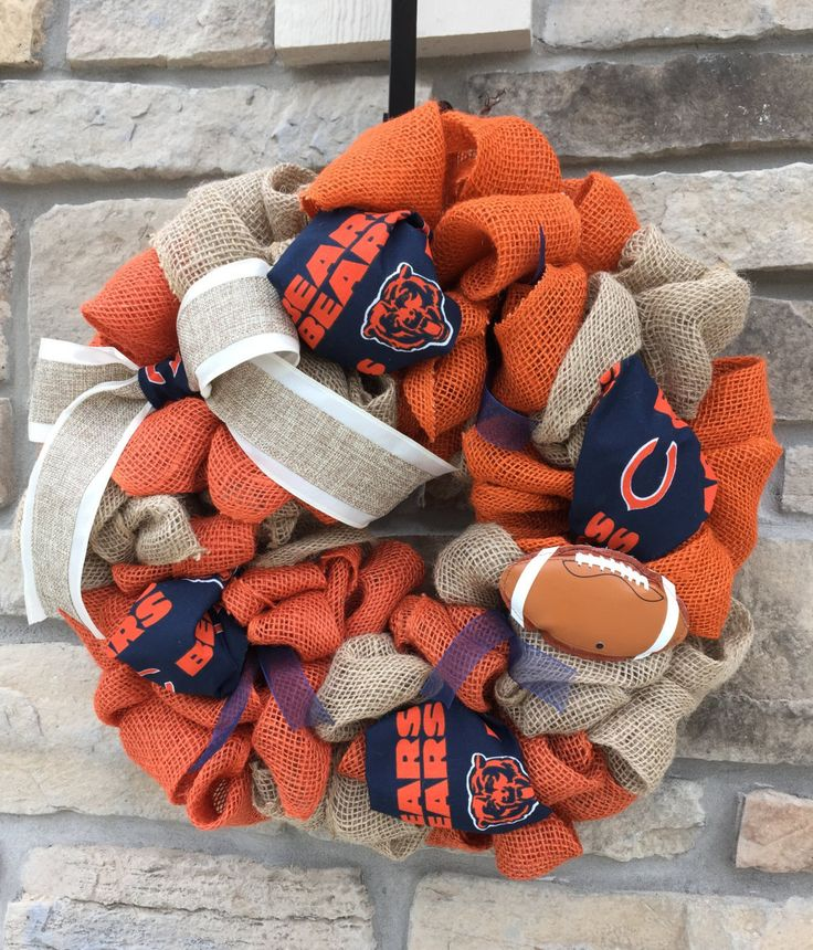 Chicago Bears Burlap Wreath by AlpineRoadDesign on Etsy