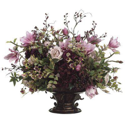 Silk Flower Arrangements Hydrangea Rose Magnolia Berry