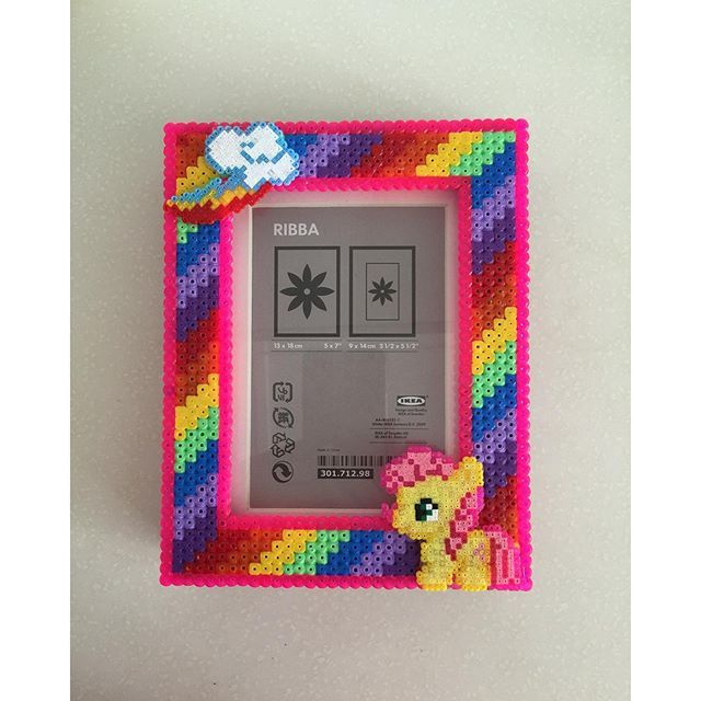 My Little Pony photo frame hama perler beads by ikasuyanto