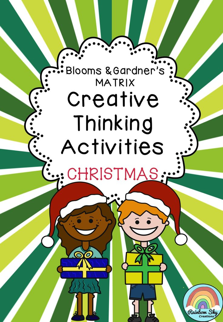 Christmas Creative Thinking Resource. Blooms/Gardner's grid (matrix) has been made to encourage creative and critical thinking. This pack is designed to use as individual lessons, literacy rotation tasks or fast finishing activities in the lead up to or during the festive season! Each activity has a task cards as well as BLMs in order to assist you in using these activities in various ways within your classroom. Suitable for Years 2 - 6. ~ Rainbow Sky Creations ~