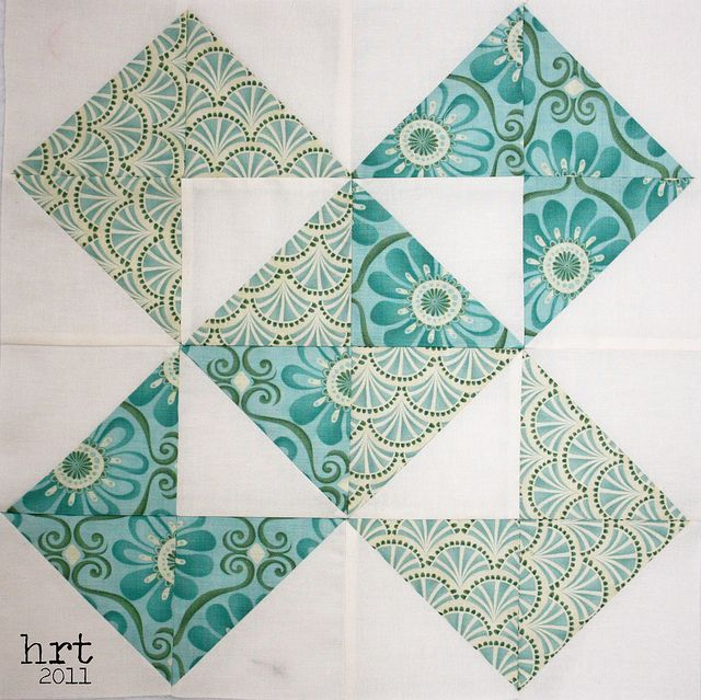 Using half square triangles, is like the log cabin block, one can make so many different quilt designs with either!