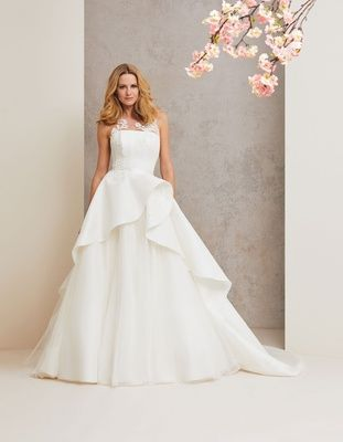 Caroline Castigliano 2018 Bridal Collection Wedding Dress Head Over Heels Illusion Gown Peplum