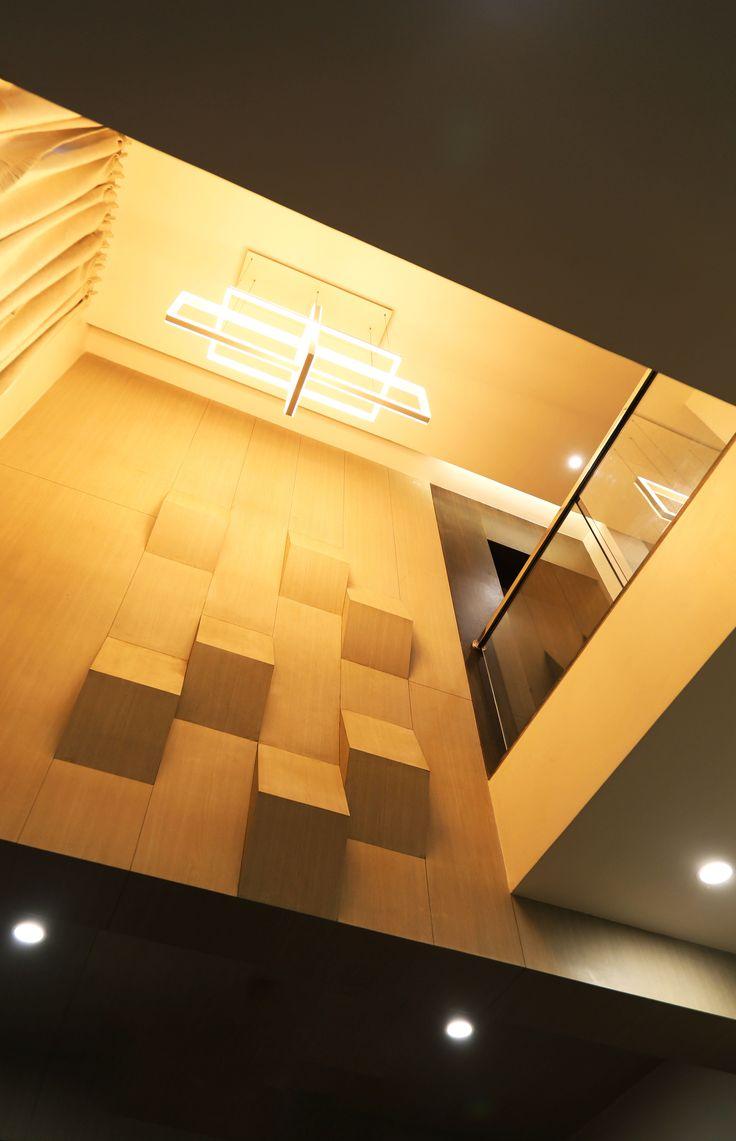 modern double height living room ceiling design | Pop ...
