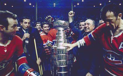 Despite Canadiens captain Jean Béliveau on crutches, the Canadiens swept the Blues in 1968.