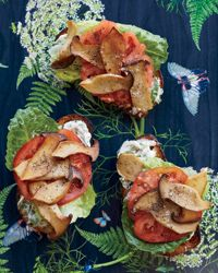King Oyster Mushroom BLT with Basil Mayonnaise Recipe