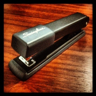 Even the office stapler looks cool when run thru Instagram...