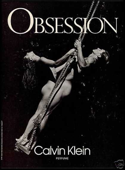 Calvin Klein Obsession Perfume Nude Man Woman (1992)