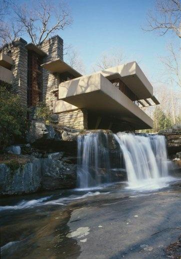 Fallingwater. Frank Lloyd Wright. 1936-1939, Bear Run, Pennsylvania