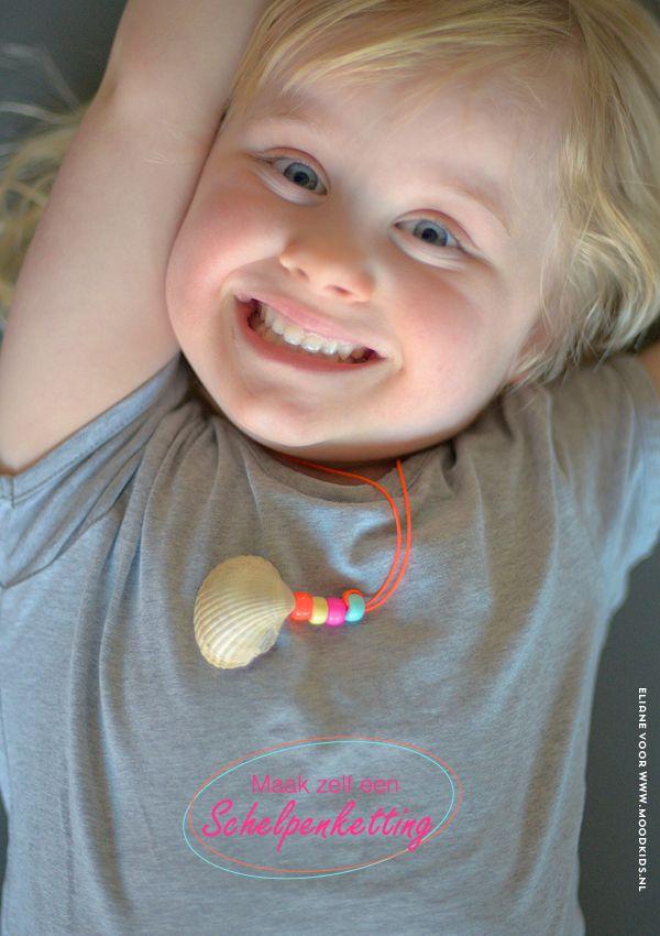 DIY met schelpen : samen met je kind een schelpenketting maken : Moodkids