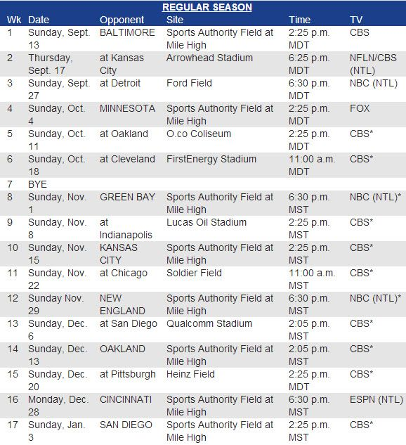 Denver Broncos Schedule: 1000+ Ideas About Denver Broncos Schedule On Pinterest