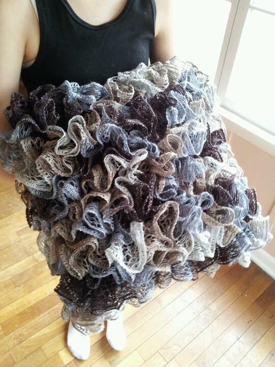 Infinity Knitted Scarf Pattern : Cute pillow crocheted with sashay yarn... Sewing/Knit/Crochet Pinterest ...
