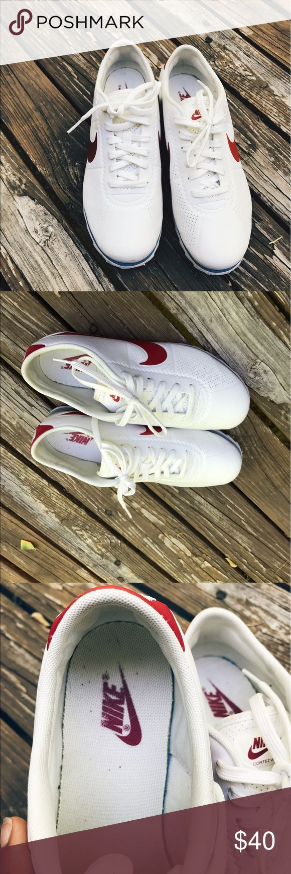 Classic Nike Cortez Red White and Blue Worn a couple of times. Great condition. I'm moving and don't wear these at all so I'm selling them Nike Shoes Sneakers