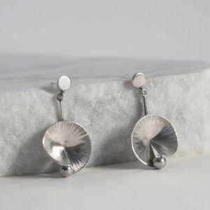 Silver earrings by Karl-Erik Palmberg