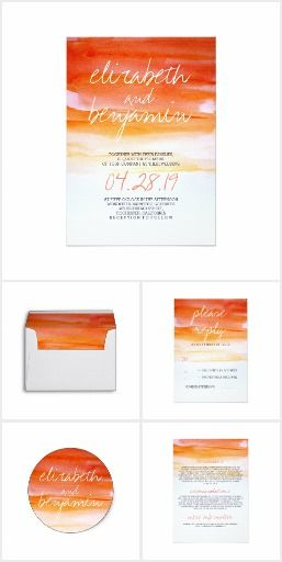 Watercolor Swash Whimsical Wedding Collection