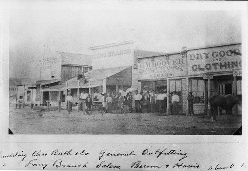 dodge city in the 1800s view of the dodge city kansas business district in 1875 page old. Black Bedroom Furniture Sets. Home Design Ideas