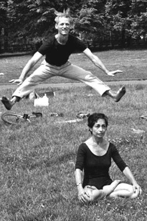 1961: Couple practice yoga in Central Park, New York, USA ... #vintageyoga #yogahistory #1960s #yoga #yogalife #yogaworld #om