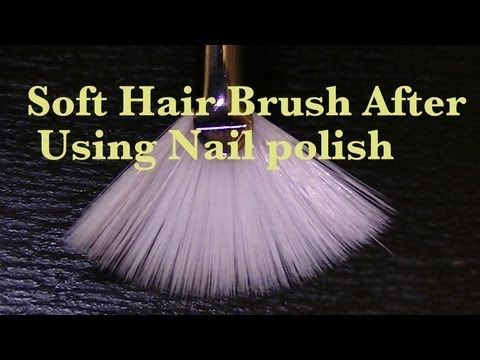 How To Clean and Get a Soft Brush after using nail polish. My brushes always end up ruined after using polish so guess I was cleaning them wrong.