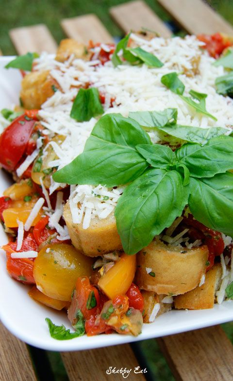 toskańska panzanella / Tuscan panzanella  (Tuscan Bread and Tomato Salad)