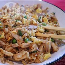 Recipe photo: Chicken and mushroom fried rice Get access to a 1000 recipes at http://fingerlickingrestaurantrecipes.weebly.com   #chicken #chicken recipes