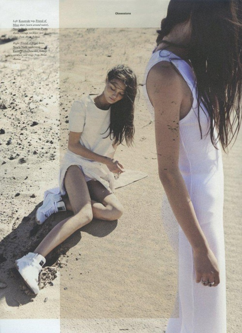 Nice way to put two photo's together  oyster magazine | Tumblr