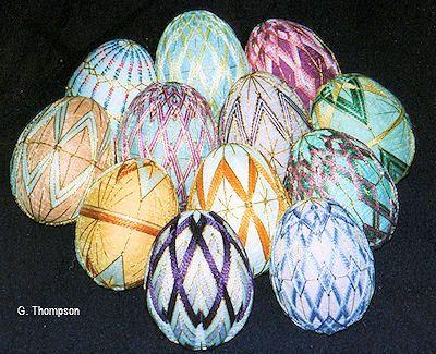 temari designs on eggs