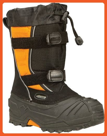Baffin Eiger Youth Snowmobile Boots Black/Orange 4 - Boots for women (*Amazon Partner-Link)