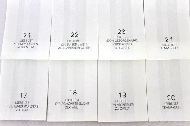 Adventskalender - Adventskalender LIEBE - ein Designerstück von theartofvariety bei DaWanda