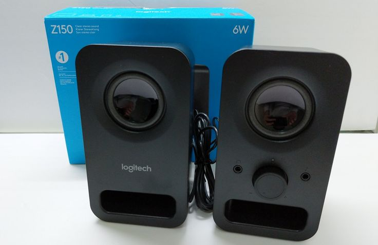 Taking a look at Logitech entry-level Z150 PC speakers.  #logitech #speakers #stereo #pc #unboxing