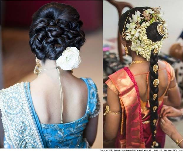 Indian hairstyles for Sarees