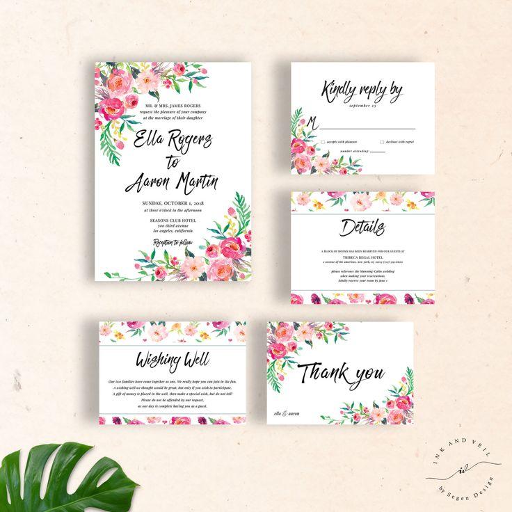 52 best Etsy Finds images on Pinterest Wedding invitation suite