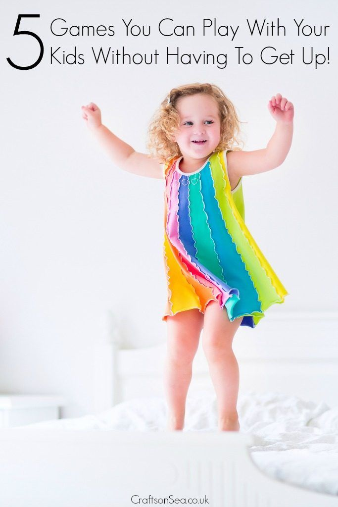 Tired? Yep. Still got to play with the kids? Oh. For the perfect parenting hack, here's five tried and tested games you can play with your kids without having to get up - phew!