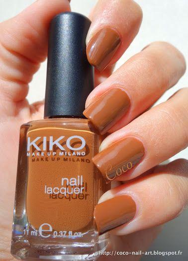 KIKO - N°370 Hazelnut http://coco-nail-art.blogspot.fr/2015/01/kiko-n370-hazelnut.html
