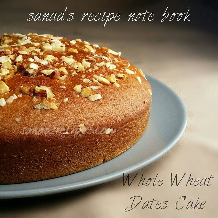 Whole Wheat Dates Cake