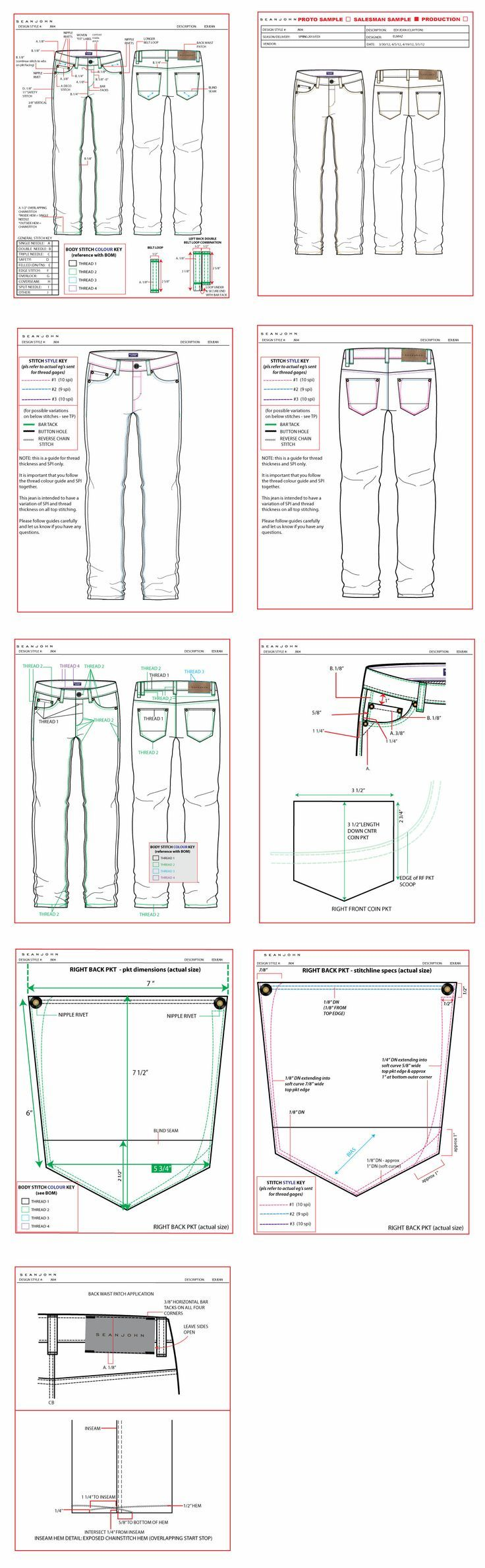 Good jeans illustrations:
