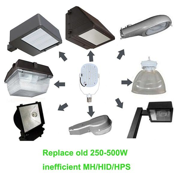 400w Metal Halide Led Retrofit Kit Parking Lot Light Replacement Led Parking Lot Lighting Hid Bulbs