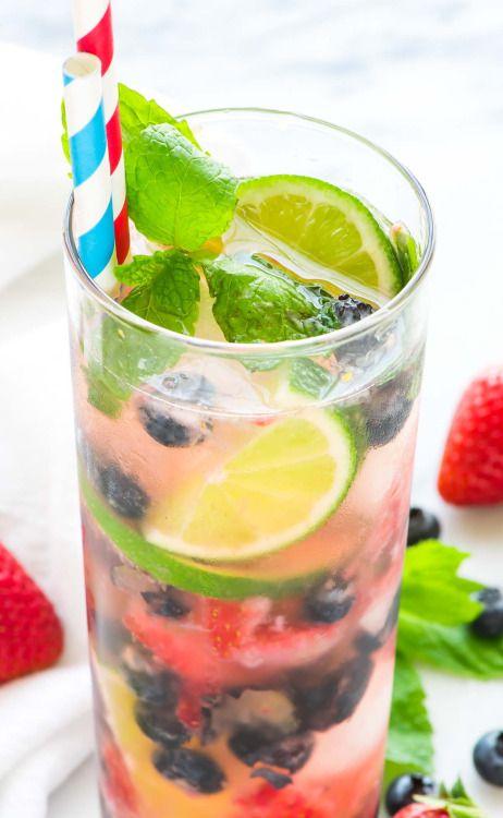 Blueberry Strawberry MojitoReally nice recipes. Every hour.Show  Mein Blog: Alles rund um die Themen Genuss & Geschmack  Kochen Backen Braten Vorspeisen Hauptgerichte und Desserts # Hashtag