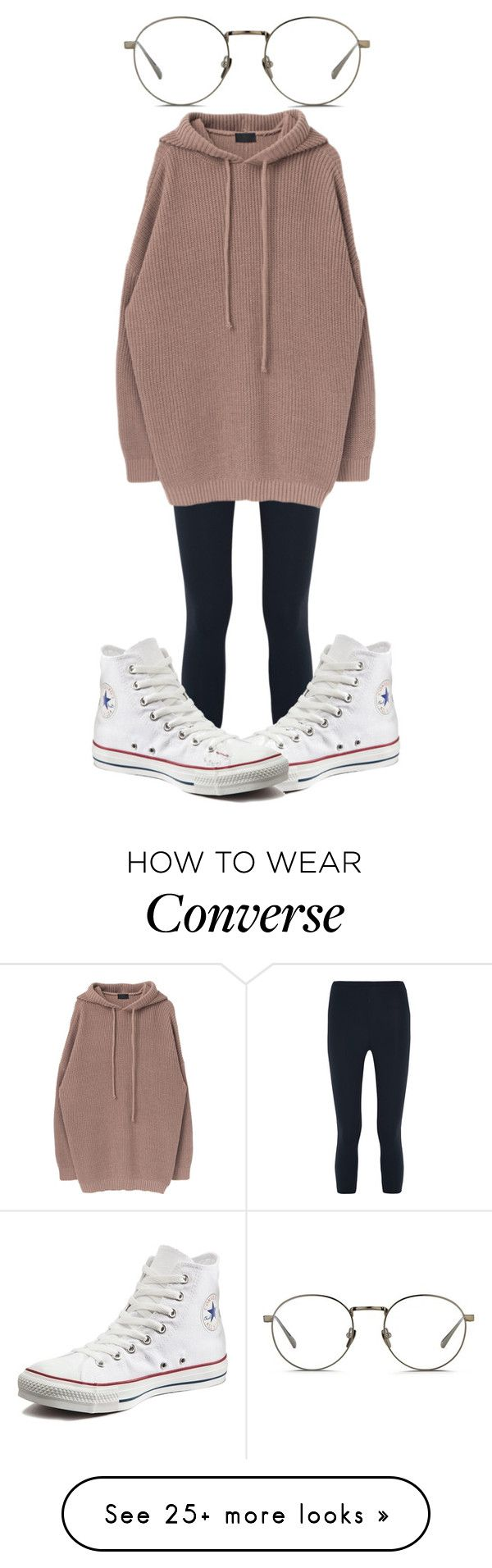 """#277"" by jel1ica on Polyvore featuring Live the Process, Converse and Linda Farrow"