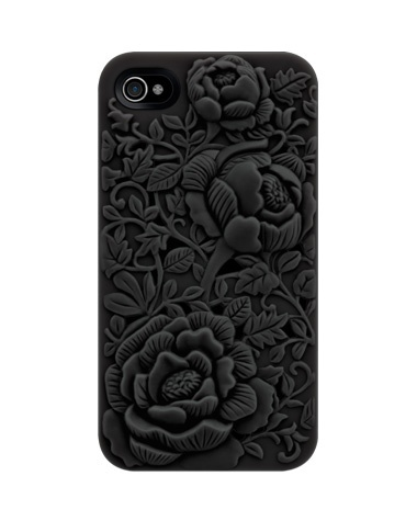 Oooooh, me likey.  Black roses are one of my faves.  :): Iphone Cases, Black Rose, Iphone 4S, Rose Embossing, Unique Design, Iphone 4 4S, Phones Cases, Embossing Cases, Blossoms