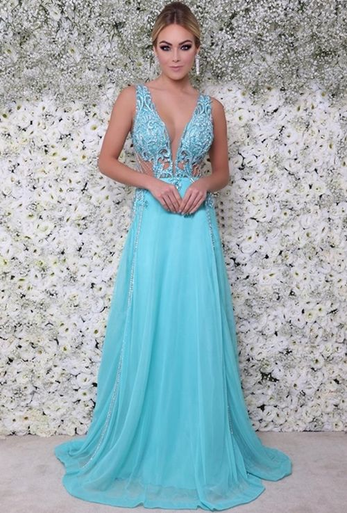 Vestido de festa azul tiffany venda