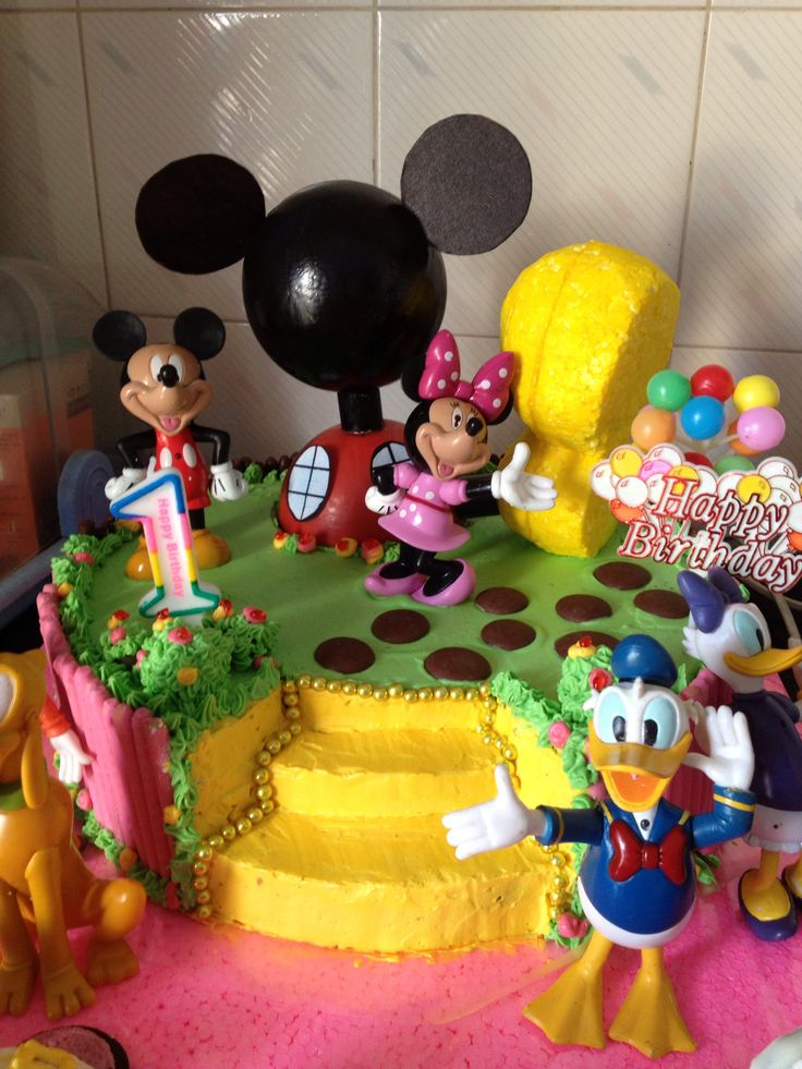 Mickey Mouse Clubhouse theme birthday cake for my little Abigail