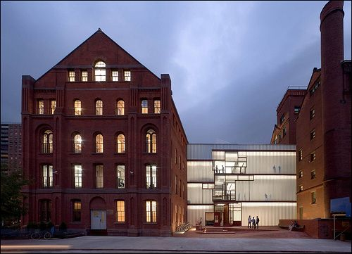Juxtaposition Of Translucent Glass And Brick   Pratt Institute, Higgins  Hall Insertion   Brooklyn, NY   Architect: Steven Holl