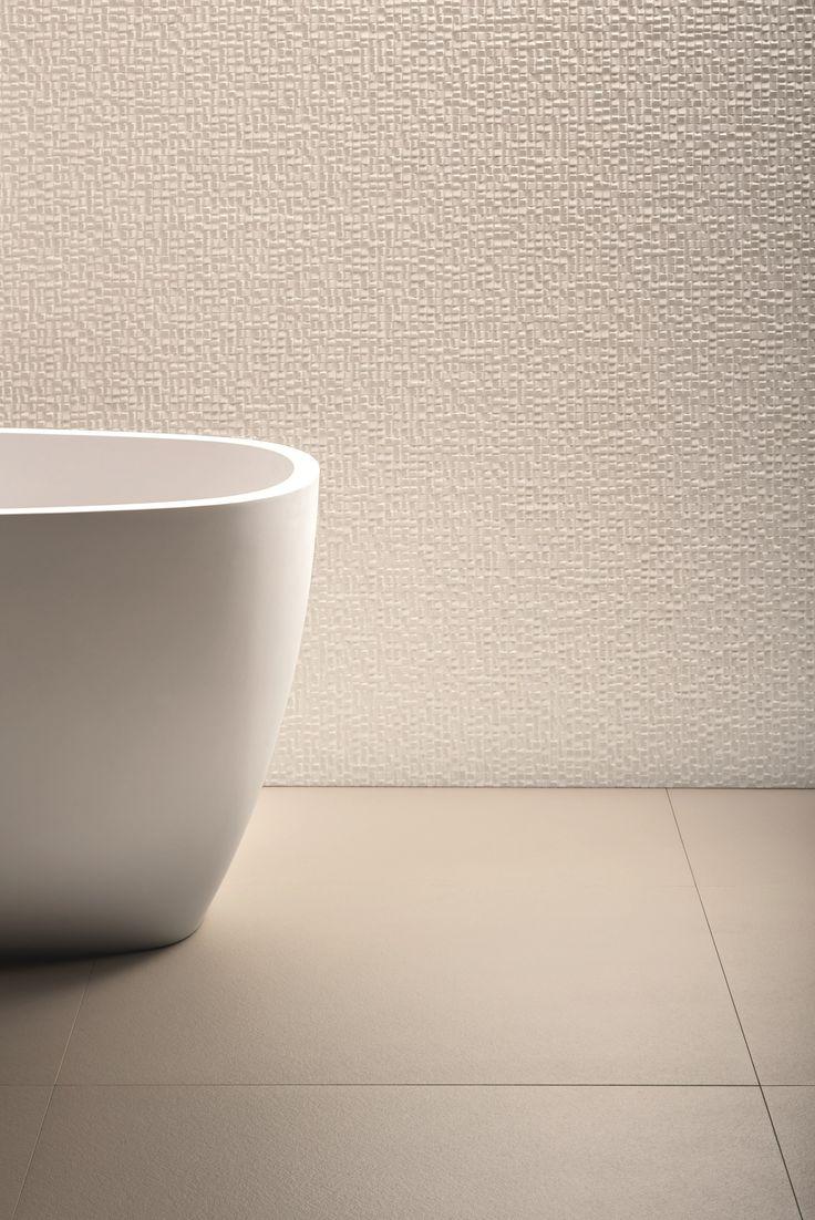 Mosaico de gres porcelánico PHENOMENON AIR BIANCO by MUTINA diseño Tokujin…