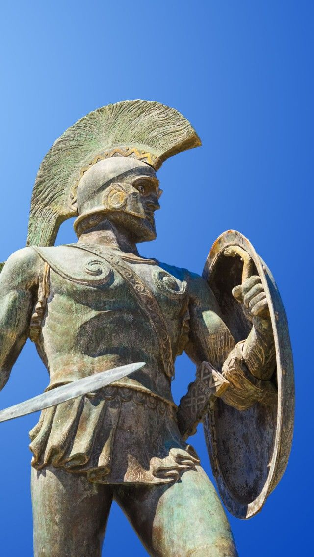 King Leonidas Statue Sparta Greece