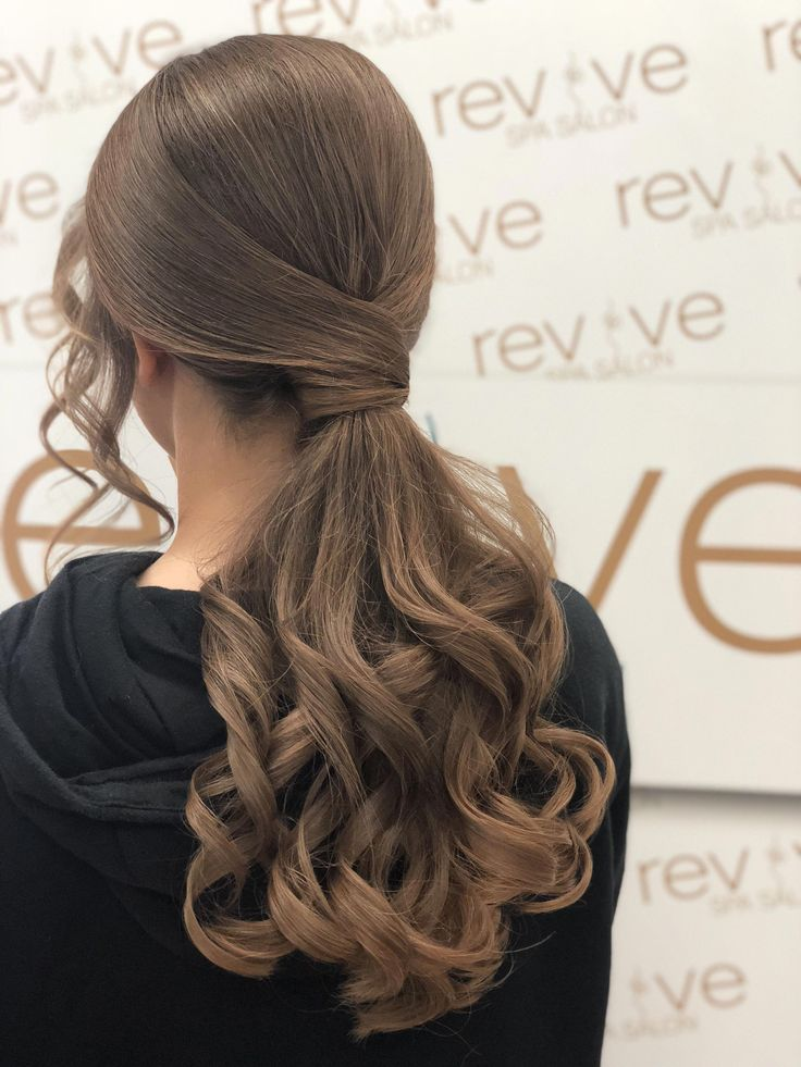 Prom low ponytail #easypromhairstyles | Hair styles, Low ...