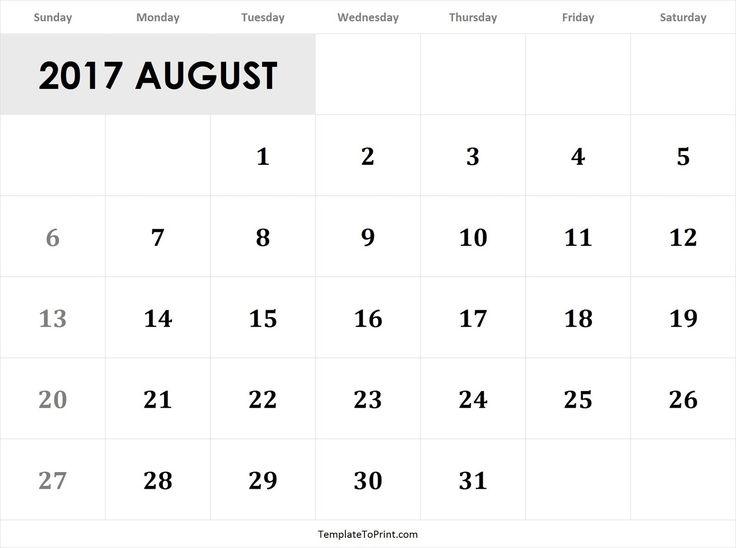 44 best 2017 Calendar images on Pinterest Printable calendars - calendar template pdf