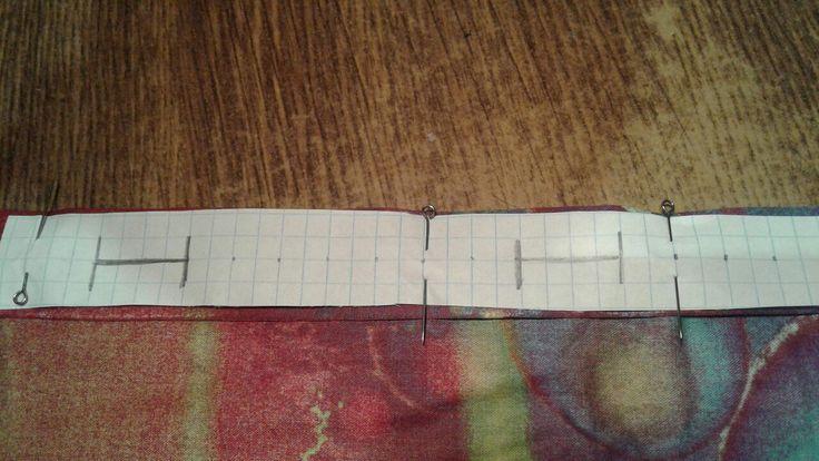 Для тонких тканей нашла простой способ обмётки петель. Сразу можно сделать разметку для нескольких петель на листке обычной ученической тетради. Купить специальную ленту как предлагает журнал Burda нет возможности.